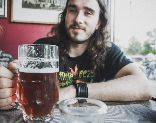 Oli mit Bier